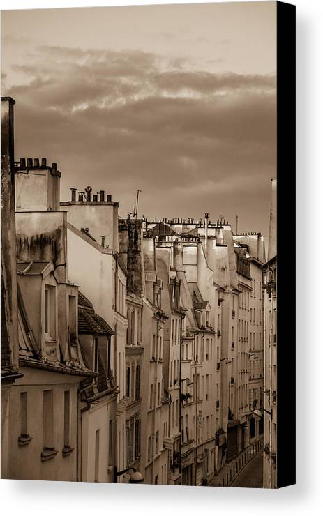 France Canvas Print featuring the photograph View Down Rue Beauregard by W Chris Fooshee