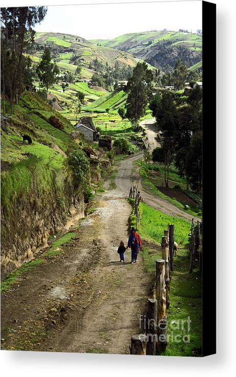 Ecuador Canvas Print featuring the photograph View Of Lupaxi by Kathy McClure