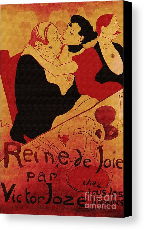 Vintage Canvas Print featuring the painting Vintage Art Poster Advertisement Entertainment Toulouse Lautrec 1892 by R Muirhead Art