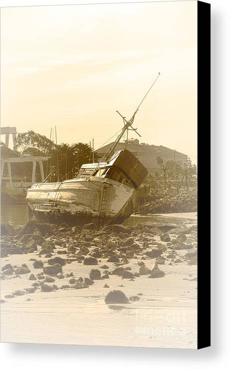 Shipwreck Canvas Print featuring the photograph Vintage Shipwreck by Artist and Photographer Laura Wrede