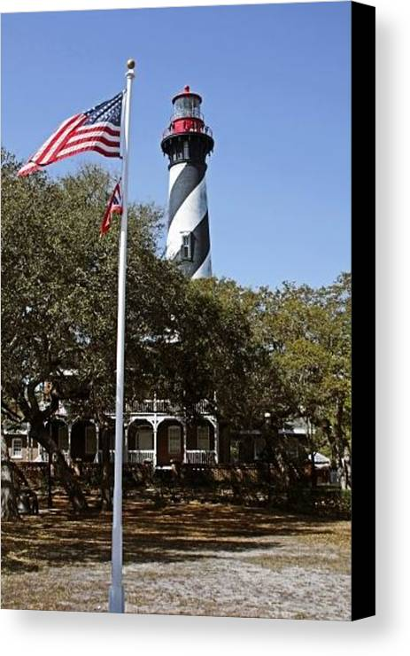 St Canvas Print featuring the photograph Viva Florida - The St Augustine Lighthouse by Christine Till