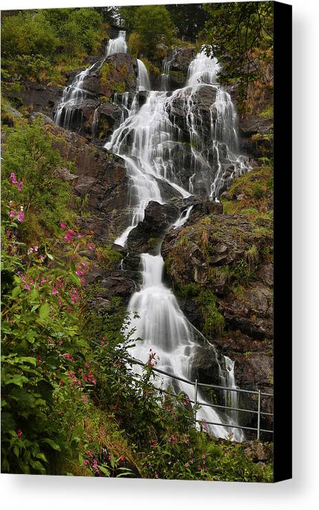 Water Canvas Print featuring the photograph W A T E R F A L L . O F . T R I B E R G by Thomas Herzog
