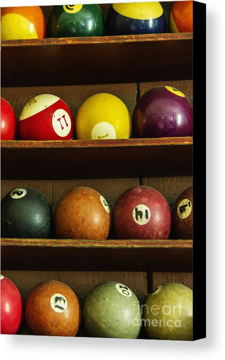 Pool Canvas Print featuring the photograph Waiting For The Game by Margie Hurwich
