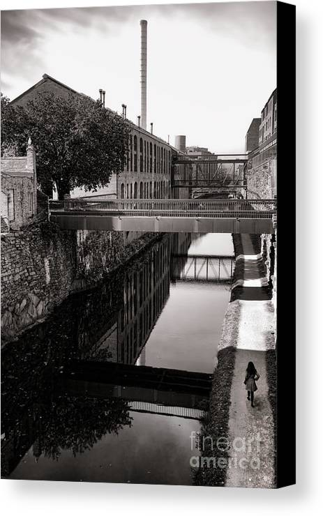 Georgetown Canvas Print featuring the photograph Walking Along The C And O by Olivier Le Queinec