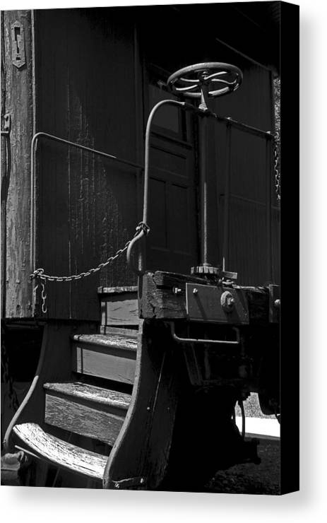 Warped Steps Canvas Print featuring the photograph Warped Steps by Mike Flynn