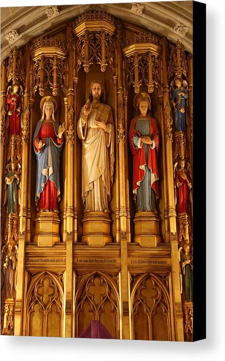 Alter Canvas Print featuring the photograph Washington National Cathedral - Washington Dc - 011321 by DC Photographer