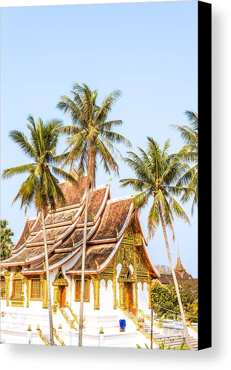 Laos Canvas Print featuring the photograph Wat Mai Temple - Luang Prabang - Laos by Matteo Colombo