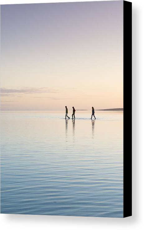 Water Canvas Print featuring the photograph Water Hike by Joe Wigdahl