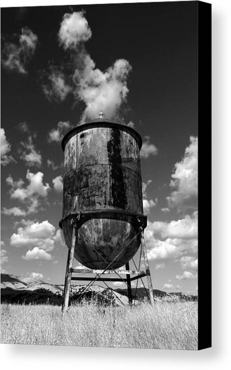 Canvas Print featuring the photograph Water Tower At Mt Diablo by Jennette Maintzer