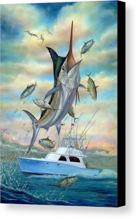 Blue Marlin Canvas Print featuring the painting Waterman by Terry Fox