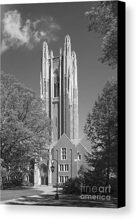 Green Hall Canvas Print featuring the photograph Wellesley College Green Hall by University Icons