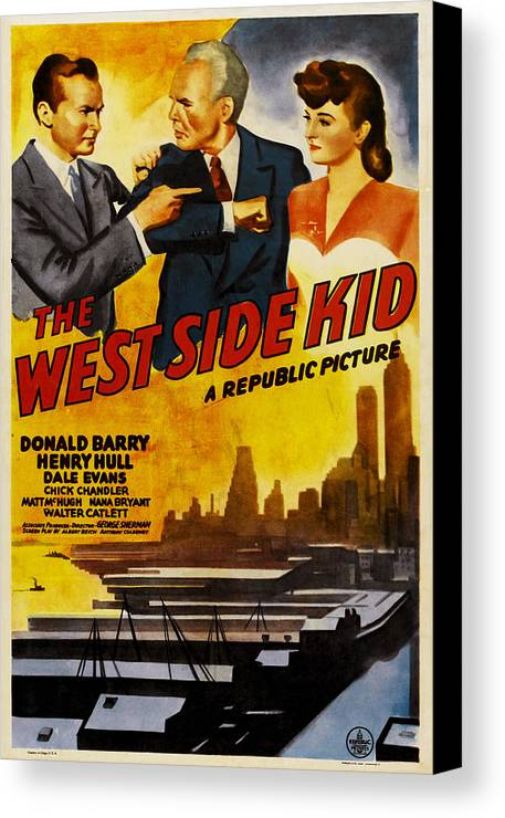 1940s Movies Canvas Print featuring the photograph West Side Kid, Us Poster, From Left Don by Everett