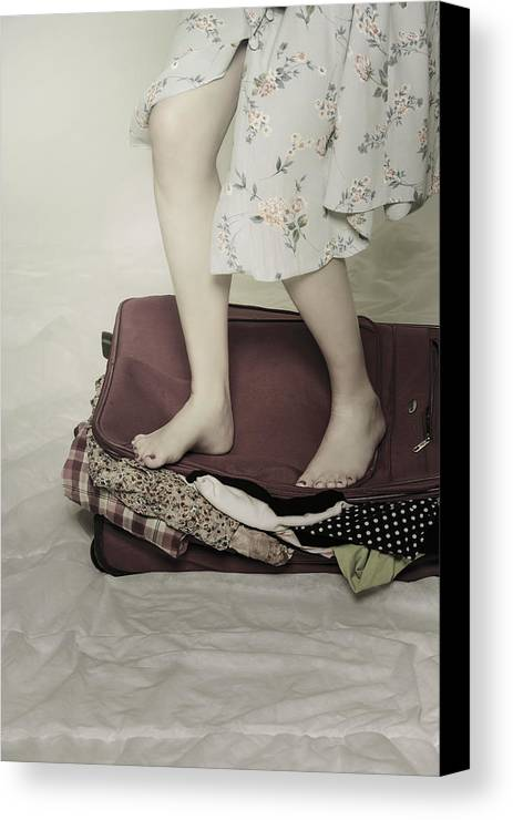 Woman Canvas Print featuring the photograph When A Woman Travels by Joana Kruse