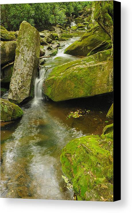 Landscape Canvas Print featuring the photograph When Peace Like A River by Jim Southwell