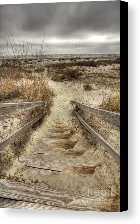 Wild Dunes Canvas Print featuring the photograph Wild Dunes Beach South Carolina by Dustin K Ryan