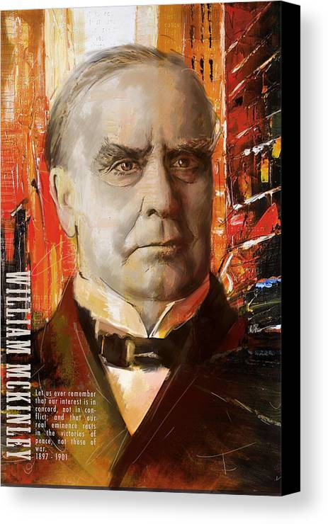 William Mckinley Canvas Print featuring the painting William Mckinley by Corporate Art Task Force