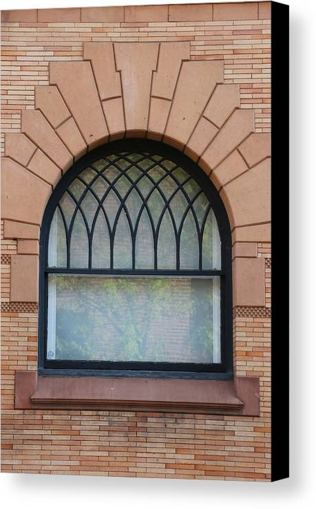 Bldg Canvas Print featuring the photograph Window by Gerry Fortuna