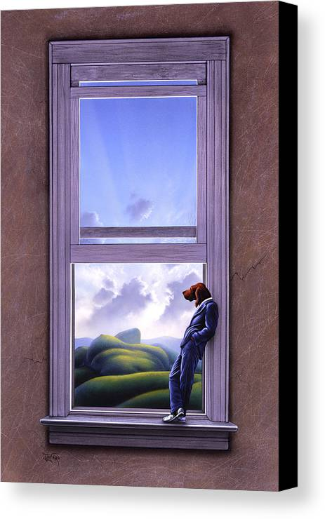 Surreal Canvas Print featuring the painting Window Of Dreams by Jerry LoFaro