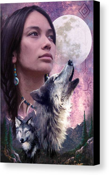 Adult Canvas Print featuring the photograph Wolf Montage by Garry Walton