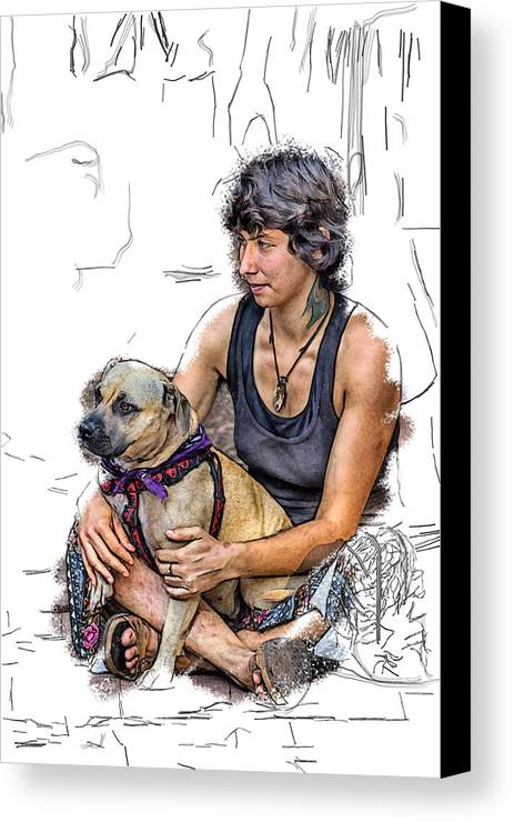 Appalachia Canvas Print featuring the digital art Womans Best Friend by John Haldane
