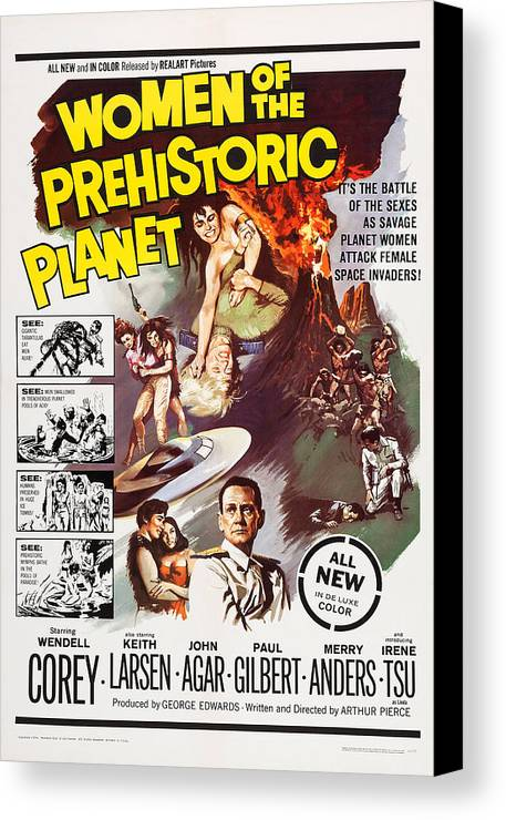 1960s Movies Canvas Print featuring the photograph Women Of The Prehistoric Planet, Us by Everett