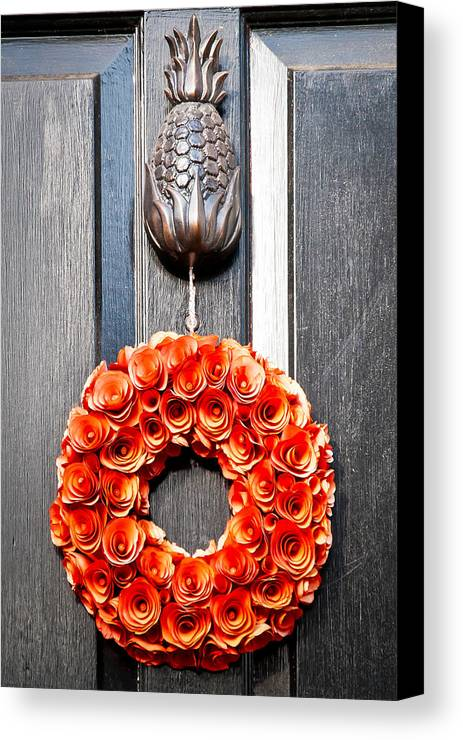 Wreath Canvas Print featuring the photograph Wreath 31 by William Krumpelman