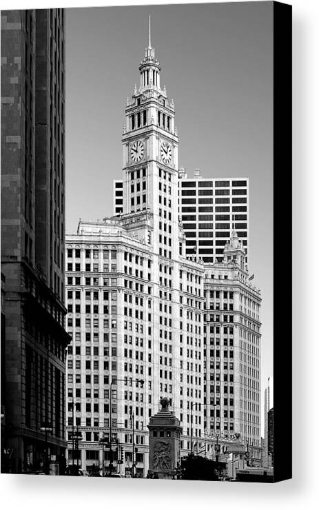 Wrigley Canvas Print featuring the photograph Wrigley Building - A Chicago Original by Christine Till