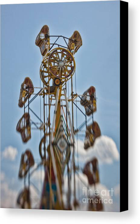 Carnival Canvas Print featuring the photograph Zipper In The Sky by K Hines