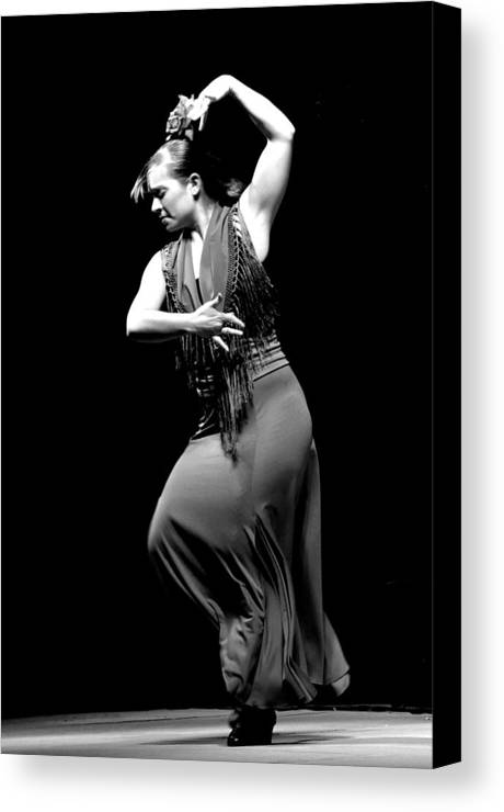 Marta - Flamenco Dance Teacher In Olvera Canvas Print featuring the photograph 084 by Patrick King