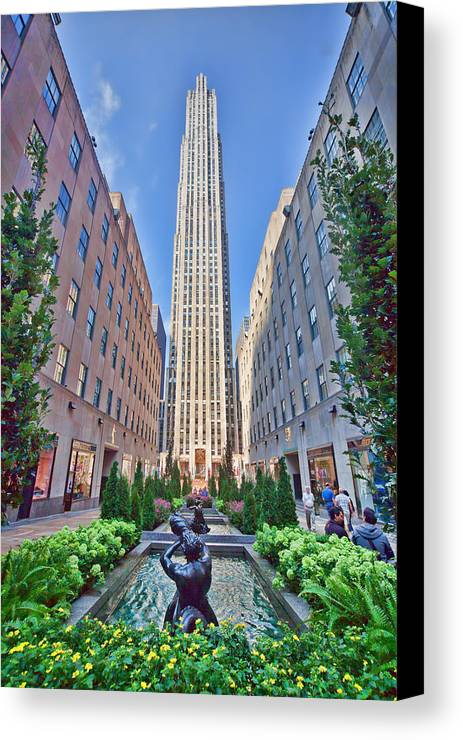 Nyc Canvas Print featuring the photograph 30 Rock by June Marie Sobrito