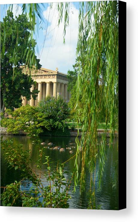 Parthenon Canvas Print featuring the photograph A View Of The Parthenon 17 by Douglas Barnett