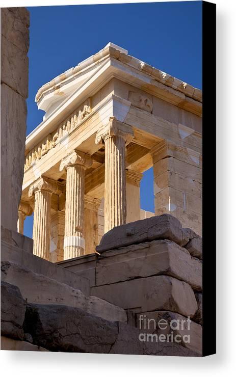 Acropolis Canvas Print featuring the photograph Acropolis Temple by Brian Jannsen