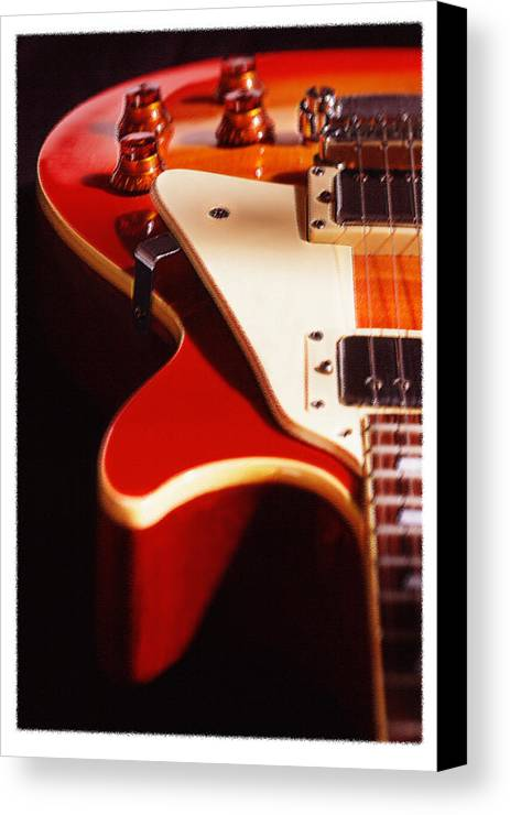 Vintage Guitar Canvas Print featuring the photograph Electric Guitar I by Mike McGlothlen