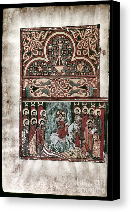 1420 Canvas Print featuring the photograph Entry Into Jerusalem by Granger