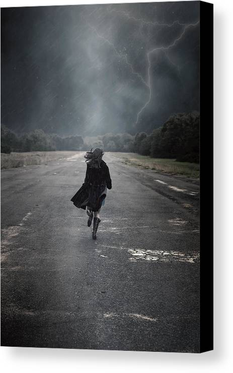 Female Canvas Print featuring the photograph Escape by Joana Kruse