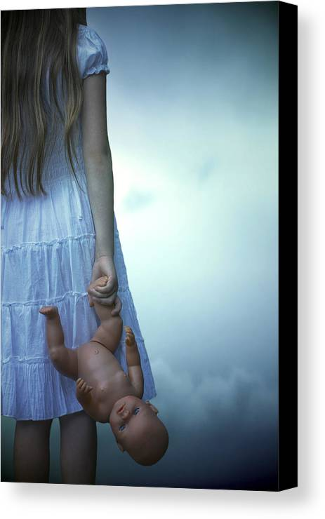 Girl Canvas Print featuring the photograph Girl With Baby Doll by Joana Kruse