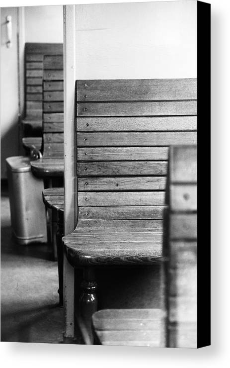 Altes Zugabteil Canvas Print featuring the photograph Old Train Compartment by Falko Follert