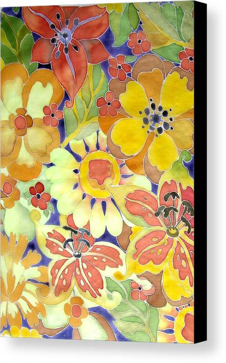 Flowers Canvas Print featuring the painting Paints Of Flowers by Khromykh Natalia