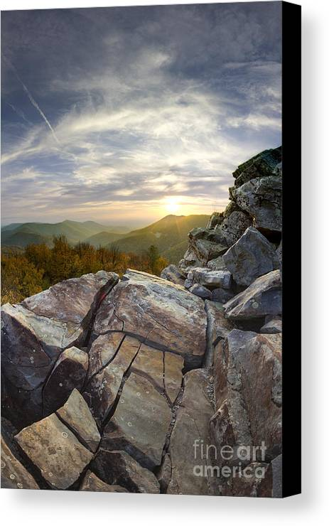 Sunset On Black Rock Mountain Canvas Print featuring the photograph Sunset On Black Rock Mountain by Dustin K Ryan