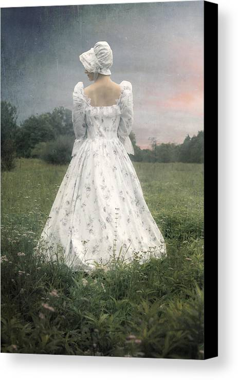 Woman Canvas Print featuring the photograph Woman With Bonnet by Joana Kruse