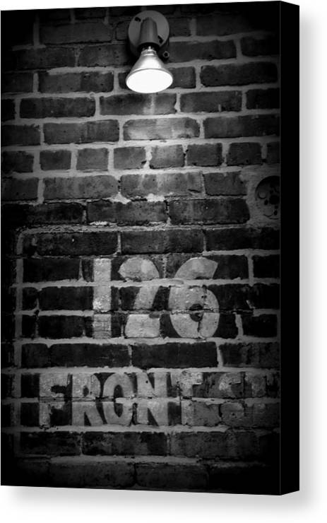 Brooklyn Canvas Print featuring the photograph 126 Front Street by Malou Fickling