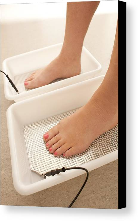 Indoors Canvas Print featuring the photograph Iontophoresis For Excess Sweating by