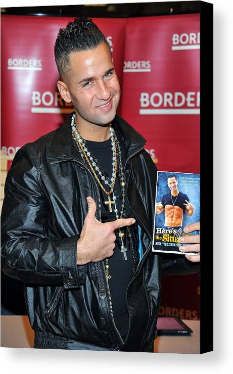 Mike ''the Situation'' Sorrentino Canvas Print featuring the photograph Mike The Situation Sorrentino by Everett