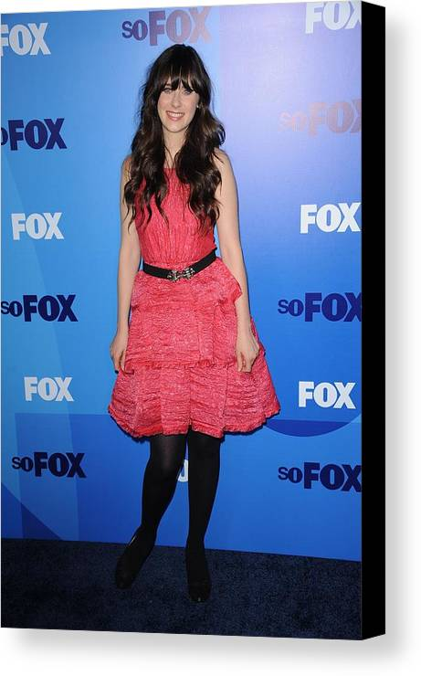 Zooey Deschanel Canvas Print featuring the photograph Zooey Deschanel At Arrivals For Fox by Everett
