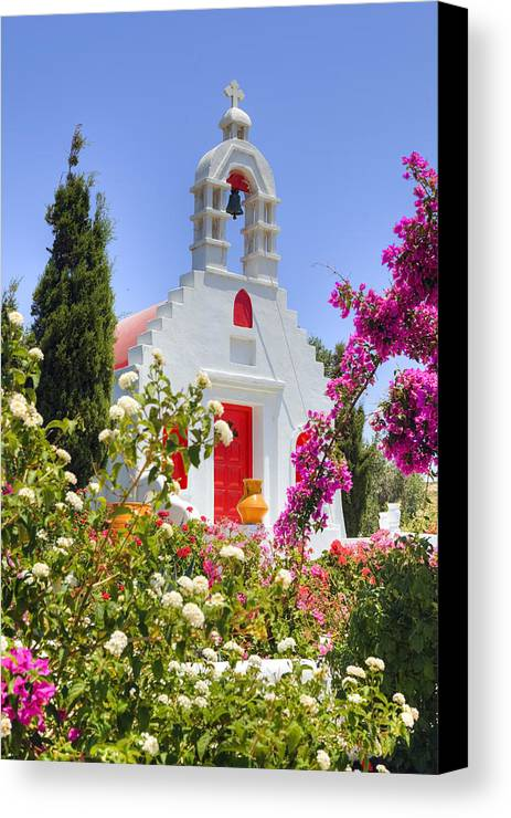 Mykonos Canvas Print featuring the photograph Mykonos by Joana Kruse