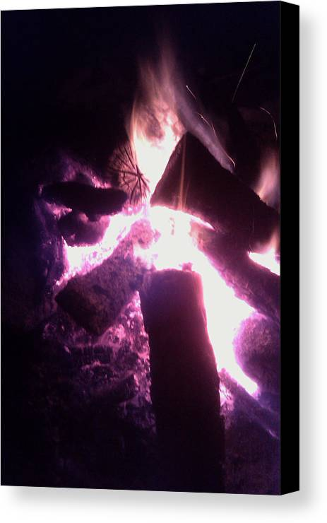 Photo Canvas Print featuring the photograph Fire by Kristen Pagliaro