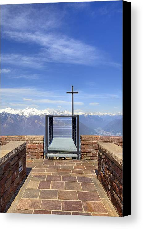 Monte Tamaro Canvas Print featuring the photograph Monte Tamaro by Joana Kruse
