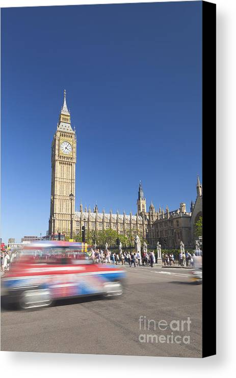 Britain Canvas Print featuring the photograph Big Ben by Roberto Morgenthaler