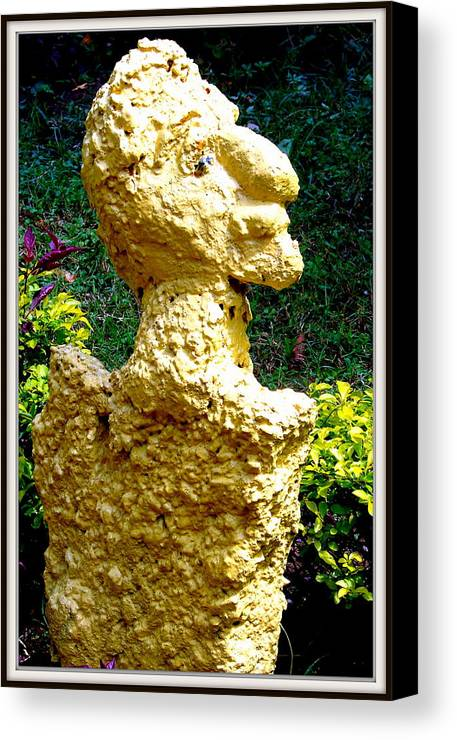 Sculptures Canvas Print featuring the sculpture A Profile Of A Man by Anand Swaroop Manchiraju