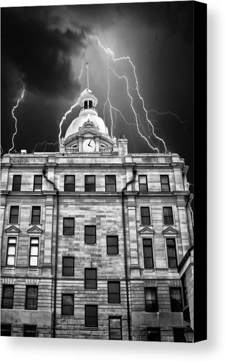 Capital Canvas Print featuring the photograph A Storm Above by Kenneth Mucke